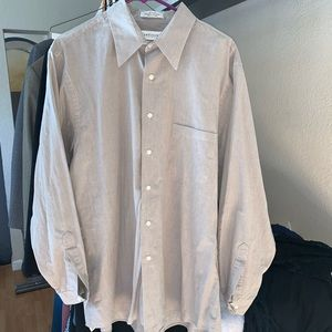 Van Heusen Mens Button Dress Shirt 34/35 Large
